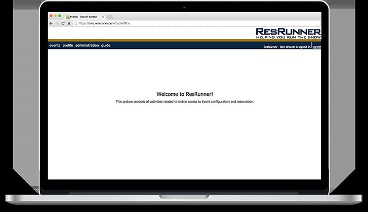 Macbook with ResRunner
